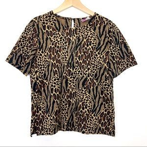 Vintage leopard print tee t-shirt animal print 90s